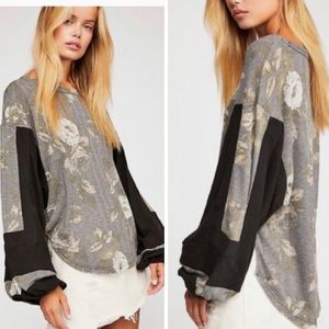 NEW Free People Flower Patch Thermal Top 179